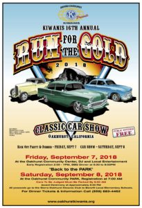 """Run for the Gold"" Car Show Dinner & Poker Run @ Oakhurst Community Center"