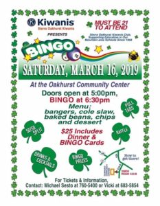 BINGO @ Oakhurst Community Center